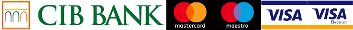 Provider of card payments: CIB Zrt.   -   Accepted cards: MasterCard, Maestro, VISA, VISA Electron